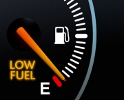 Fuel Gauge showing Euro warning light