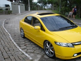 New Civic Amarelo Modificado